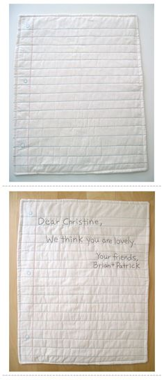 lined notebook paper quilt