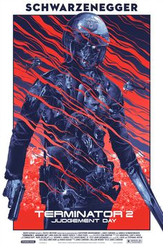 Grey Matter Art will release a new poster for Terminator 2 by Gabs next week. Omg Posters, Best Movie Posters, Movie Poster Art, Film Posters, Fan Poster, James Cameron, Arnold Schwarzenegger, Terminator 2, Poster Retro