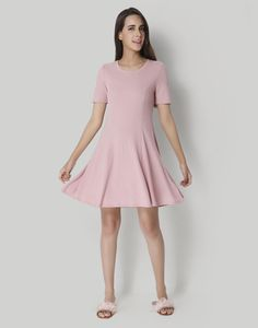 34737f7b6e1a Get ready to turn heads in this pink skater dress.