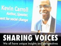 """SHARING VOICES"" - A Haiku Deck by Sharon Davison"