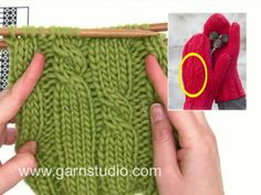 Wie man Diagramm in DROPS Extra strickt (Tutorial Video) Drops Design, Cable Knitting Patterns, Free Knitting, Eskimo, Magazine Drops, Knit Mittens, Nepal, Fingerless Gloves, Arm Warmers