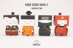 Second Set of Cubie paper toys - This little guy just had a trip to a Jidaigeki set (Japanese Period Drama) Printable PDF that are available via Etsy.