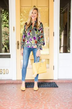 c402a878b52 Saylor top with J Brand Jeans and Target shoes J Brand Jeans