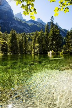 green lake! Gosau Lake in Salzkammergut, #Austria