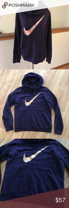 Nike Purple and Gold Hooded Sweatshirt Size Large ⚜️I love receiving offers through the offer button!⚜️ Good condition, as seen in pictures! Fast same or next day shipping!📨 Open to offers but I don't negotiate in the comments so please use the offer button😊 Check out the rest of my closet for more Adidas, Lululemon, Tory Burch, Urban Outfitters, Free People, Anthropologie, Victoria's Secret, Sam Edelman, Topshop, Asos, Revolve, Brandy Melville, Zara, and American Apparel! Nike Tops…
