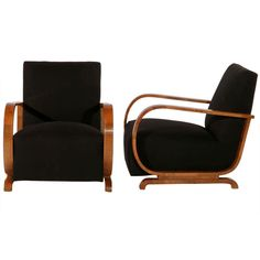 Pair of Art Deco Armchairs   From a unique collection of antique and modern armchairs at http://www.1stdibs.com/furniture/seating/armchairs/