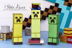 (I) (L)ove (D)oing (A)ll Things Crafty!: 3D Paper Minecraft Creeper Treat Box - FREE FILE