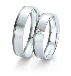 Breuning Trouwringen | black&white gouden ringen | 5mm briljant 0.04ct verkrijgbaar in 8,14 en 18 karaat | 48061290 / 48061300 #breuning #jdbw #trouwringen #breuningtrouwringen #gouden #goud #diamant