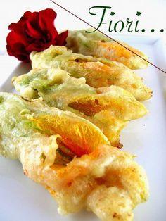 Cucinare che Passione: Fiori di Zucca fritti nella Pasta Cresciuta