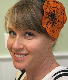 Halloween - Felt Spiderweb headband.