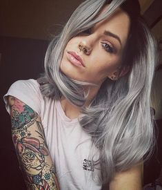 Do you want to try this grey short wig?see our sweet babe @teapartyx  is perfectly rocking this grey short wig.Do you want to try this wiggirls?wig sku:edw1051 Use Coupon Code:mom20 to get 20% Off on your order. www.everydaywigs.com #everydaywigs#shortwig#hairstyle#hairstyleforgirls#wavywig#ombrewig#shorthair#hairstyles#lacefrontwig#beauty#frontlacewig#greywigs#syntheticwigs#synthetic#beauty#instyle#2017hair