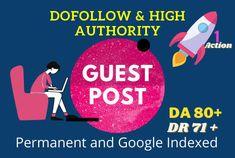 I will do 3 guest post dofollow backlinks on high da 80 site