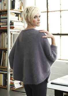 SWANCHO!  Ravelry: #13 Dolman Pullover pattern by Jeannie Chin