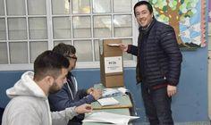 Leo Nardini y Sol Jimenez Coronel votaron en Grand Bourg