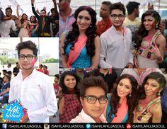 holi celebration with Tulsi kumar , Khushali kumar and Bombay viking
