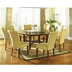 I def want a large table in the dining room. A 12 seater would be awesome.