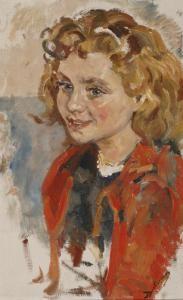 Portret Van Een Meisje Met Rood Jack
