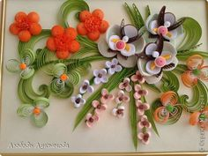 *QUILLING ~ Painting mural drawing Quilling And again they-favorite orchid photo paper strip 15