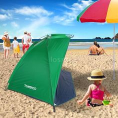 Pop Up Portable Beach Canopy Sun Shade Shelter Outdoor C&ing Fishing Tent E8D1 & Pop-Up Portable Beach Canopy Shade Shelter Outdoor Camping Tent ...