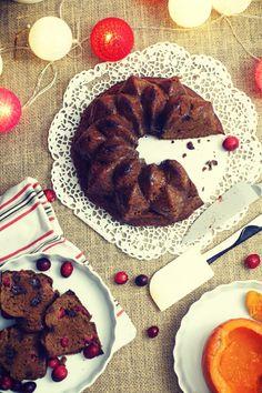 Ciasto dyniowe z karobem i żurawiną na mące jaglanej My Recipes, Pancakes, French Toast, Cookies, Breakfast, Desserts, Food, Hokkaido, Crack Crackers