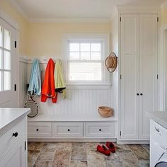 Mudroom Laundry Room, Cottage, laundry room, LDa Architects
