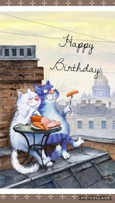 The Best Happy Birthday Memes – Mikela Memoirs Happy Birthday Animals, Funny Happy Birthday Images, Happy Birthday Wishes Cards, Birthday Blessings, Birthday Wishes Quotes, Cat Birthday, Happy Birthday Beautiful, Illustration, Birthdays