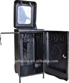 Black horse tack box