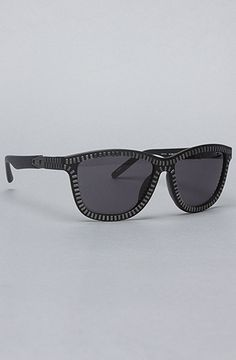 The Zipper Sunglasss in Black and Nickel by Alexander Wang