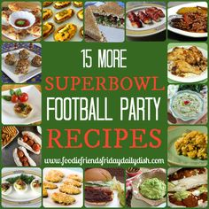 "Superbowl Football Party Recipes 2_  Well my excitement for football has gone way down this week with the dramatic loss of the Seahawks… BUT… not my taste for football food!  Today I bring you "" Superbowl Football Party Recipes 2 ""  In case you missed it, the first 10 recipes were shared last week HERE.  Now, we have a bunch more to share because we know YOU love football food too!"