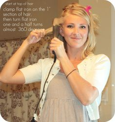how to curl short hair- if I ever have short hair again :)