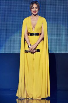Jennifer Lopez em prêmio de música em Los Angeles, nos Estados Unidos
