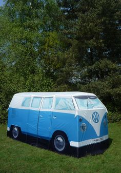 Groovy Getaway Tent - Blue, Vintage Inspired, 60s, Statement