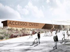 'expo 2015 service areas and west access pavilion' by onsitestudio, milan, italy