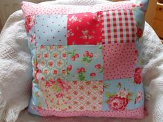 Patchwork Cushion Kit ALL Cath Kidston Fabrics Included! Handmade Sewintocrafts!