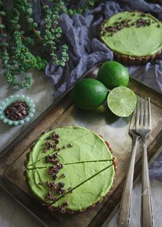 This Lime Avocado Tart is a refreshing no bake treat perfect for summer and California Avocado month in June!