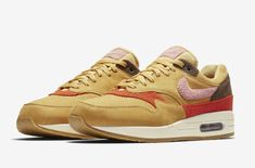 best sneakers 1f37a bf497 Coming Soon  Nike Air Max 1 Premium Wheat Gold Premium colorways of the  Nike Air