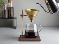The brewer stand set is perfect for those who want to indulge in a deeper, richer coffee time. It comes with a stand, filter, brewer, server. Great Coffee, Coffee Time, Coffee Machine, Espresso Machine, Cappuccino Machine, Coffee Drinks, Coffee Cups, Coffee Latte, Drip Coffee