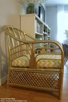 DIY gold chair                  Love the chair, but not the color.  K