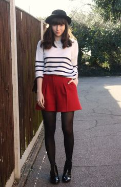 the stylish heart: red/stripes