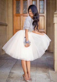 Tips de estilo dando protagonismo al tul convertido en falda, una prenda muy delicada y femenina y de la que nosotras estamos totalmente enamoradas