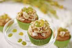 Bake our delcious Easter Nest Coconut & Lime Cupcakes. A light, fluffy sponge topped with a combination of white chocolate, coconut and lime. Stork Recipes, Cupcake Recipes, Chocolate Nests, Melting Chocolate, White Chocolate, Coconut Lime Cupcakes, Raspberry Tarts, Tesco Real Food, Fairy Cakes