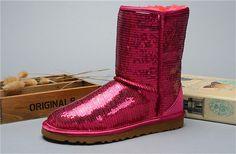 d6f945a01bc Ugg australia ženy klasický krátký boty flitr 3161 červený