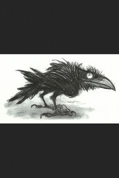 New raven bird cartoon 19 ideas Crow Art, Raven Art, Bird Art, Illustrations, Illustration Art, Corvo Tattoo, Rabe Tattoo, Crows Ravens, Norman Rockwell