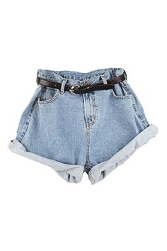 Roll Up Denim Shorts  1) Description: these are our boyfriend fit roll up denim shorts featuring roll-up hem, skinny black belt to cinch in ...
