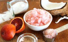 This DIY Citrus Body Scrub uses sugar, fresh blood oranges and vanilla essential oil. It's so pretty and smells like heaven!