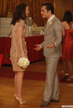 """Ed Westwick as Chuck Bass and Leighton Meester as Blair Waldorf """"The Unblairable Lightness of Being"""""""
