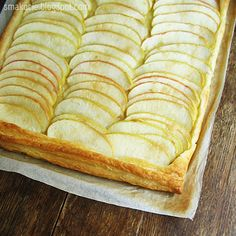Simple yet elegant puff pastry apple tart [scroll down for English]