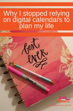 3 BIG Reasons I went back to a Paper Planner. yourlifeenhanced.net