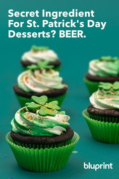 Patrick's Day is the perfect excuse to bake with beer, but these recipes are so good, you're gonna want 'em all year. Whether you enjoy lighter wheat beers or deep, robust stouts, there's a way to bake your favorite brew into any sweet treat. Baking With Beer, Wheat Beer, Baking Ideas, St Patricks Day, Lighter, Brewing, Sweet Treats, Deep, Desserts
