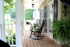 I want a house with a wrap around porch with rocking chairs in the front and a creaky old swing